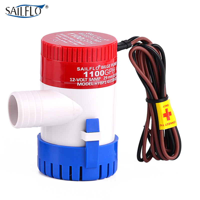 bilge pump submersible pump 12V/24V non-automatic marine boat bilge pump 1100GPH sailflo new mini bilge pump marine water aspirator fountain submersible yacht boat electric marine bilge pump