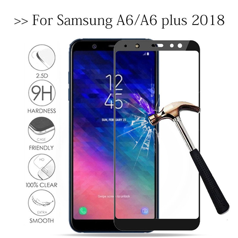 Protective Glass For Samsung Galaxy A6 Plus 2018 Tempered Glas On The Samsun Galax A6+ A 6 A6plus 6A Screen Protector Cover Film