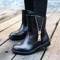 Niñas botas de cuero Martin botas niños botas de nieve de Corea Princesa 2016 otoño e invierno nuevas botas de algodón