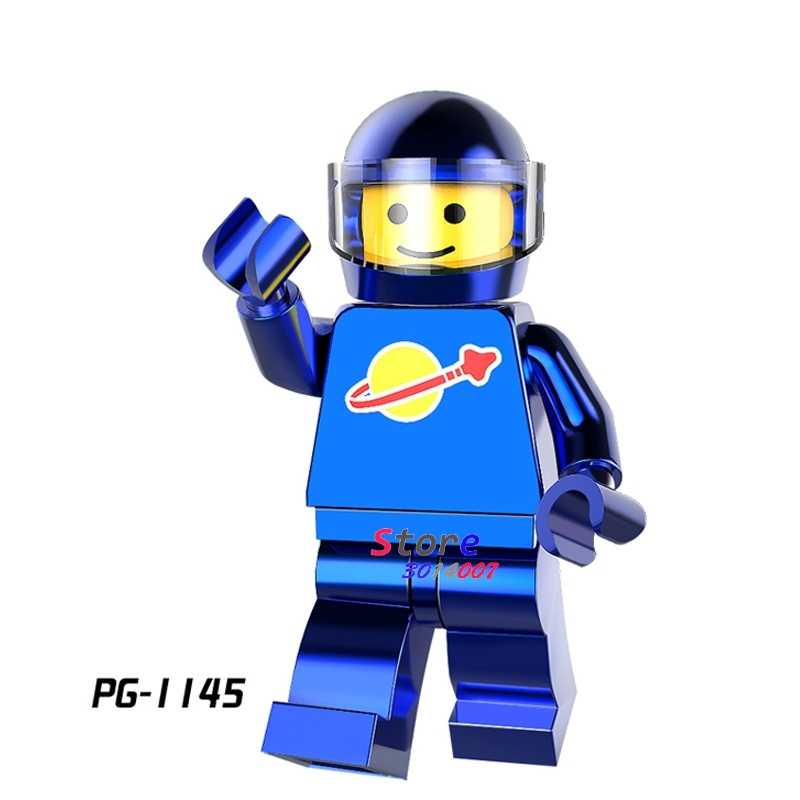 1 шт. модель строительные блоки экшн Супергерои хром астронавт Серия синий космический человек diy игрушки для детей подарок