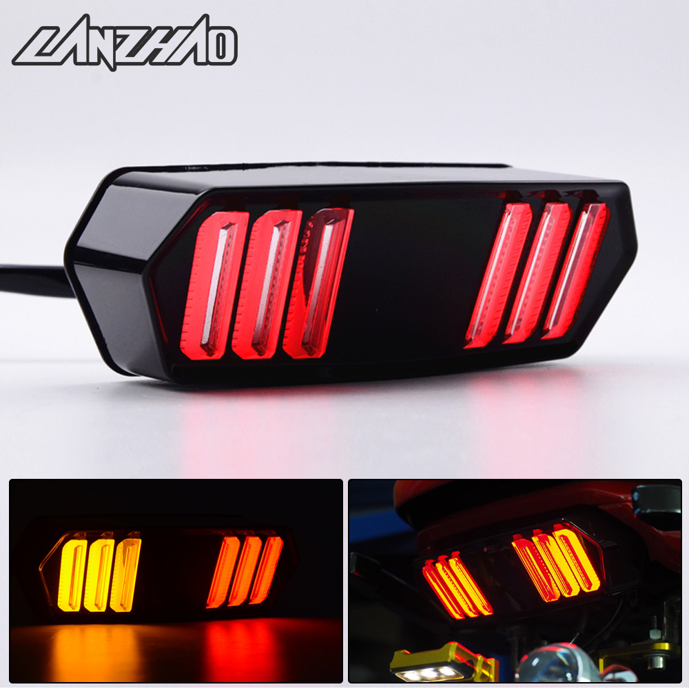 Motorcycle LED Tail Light Running Stop Brake Rear Warning Turn Signal Indicator Lamp title=