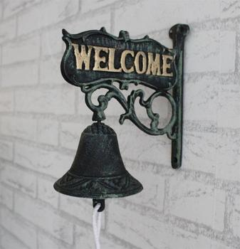 Nordic  country  retro  welcome to the cast iron  iron bell  hand bells Wind bell doorbell