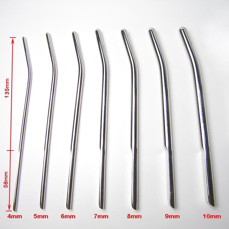 7pcs Set Urethral Sounds Stainless Steel Urethral Stretcher Dilator Penis Plug Male Chastity Sex Products Metal