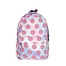 Holo Beignets 3D impression mochila sac à dos femmes sac mochilas mujer 2016 Nouvelle école à dos pour ordinateur portable sac à dos sac à dos cartable
