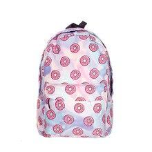 Holo Donuts 3D printing mochila backpack women bag mochilas mujer 2016 New school laptop backpacks sac a dos back pack schoolbag