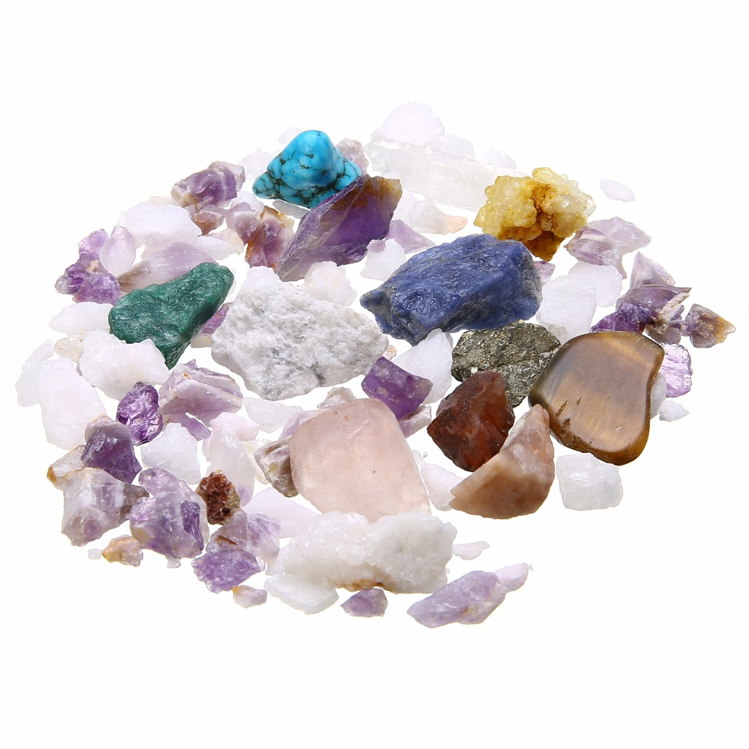 Natural Irregular Stone Mix Gems Crystals Collection Decoration For Figurines & Miniatures Mayitr