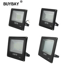 BUYBAY LED Floodlight 220V IP66 Waterproof Spotlight 30W 50W 100W 200W Led Flood Light for Outdoor Garden Billboard Project Lamp(China)