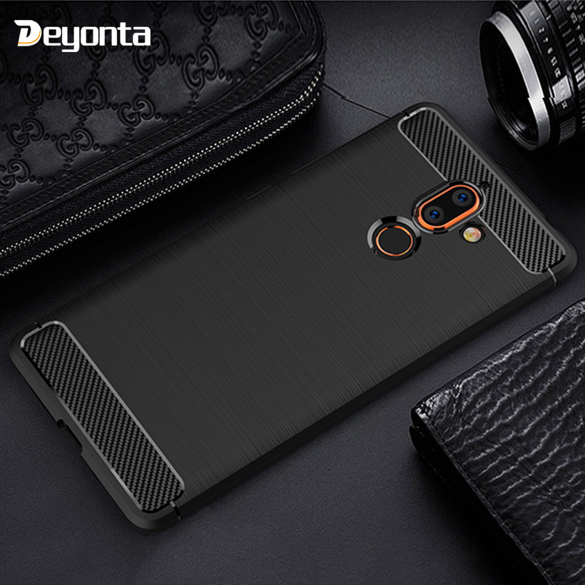 Carbon Fiber Case For Nokia 7 7.1 5.1 6 6.1 5 3.1 3 1 Plus Cases Silicone Cover On The For Nokia 4.2 2.1 8 9 PureView Bumper