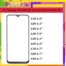 10Pcs/lot For Samsung Galaxy A10 A20 A30 A40 A50 A60 A70 A80 A90 Front Outer Glass Lens Touch Screen panel Replacement стоимость