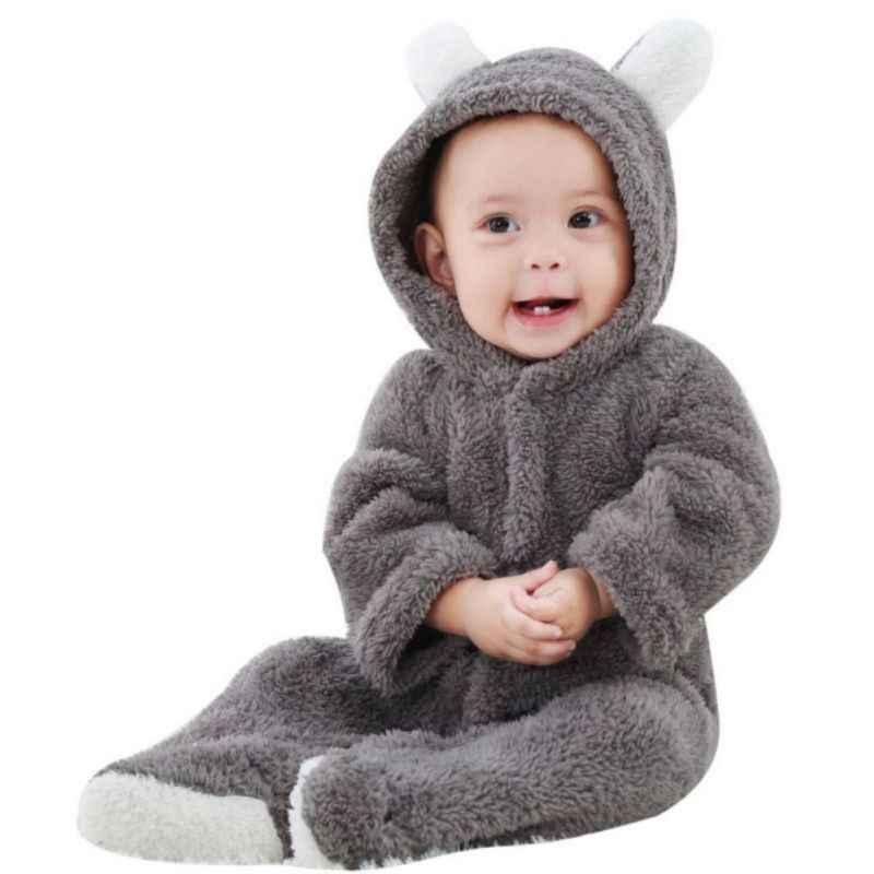 ベビーロンパース新生児ガール服セットかわいい 3D クマ耳ジャンプスーツ男の子服セットロンパース暖かいベビー衣料品セット