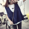 De Dove2016 spring new Korean loose sweater vest sweater vest vest College Wind Jacket Women's