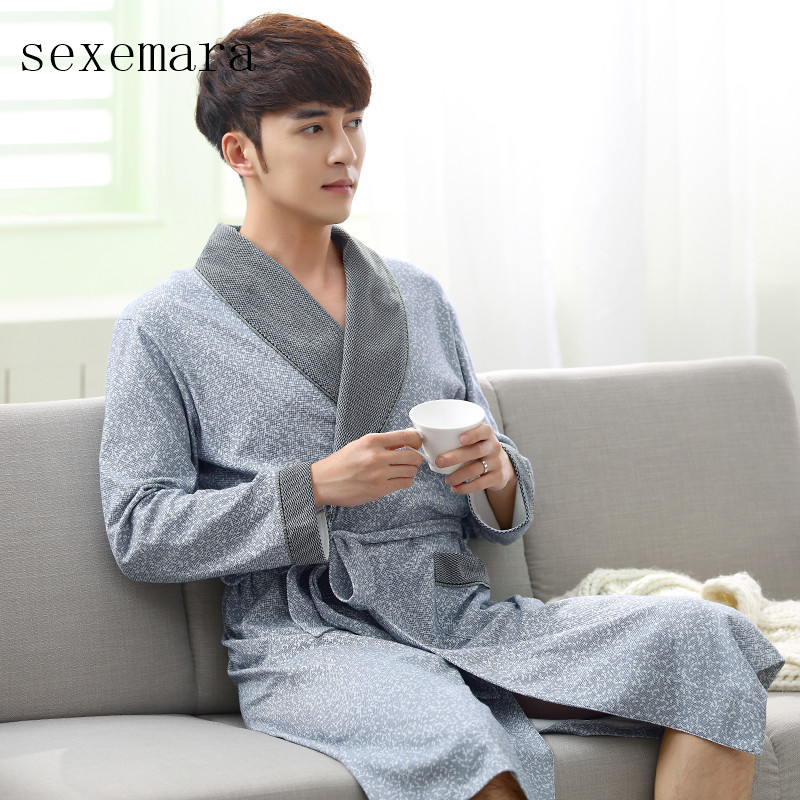 2019 no brand new arrival fashion cloth 100 cotton men sleeping robes free shipping comfortable and