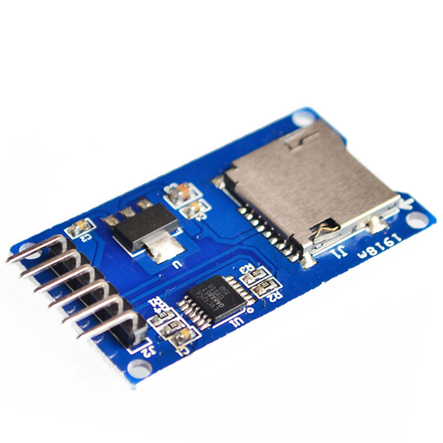 1pcs/lot Micro SD card mini TF card reader module SPI interfaces with level converter chip for arduino diy starter kiy