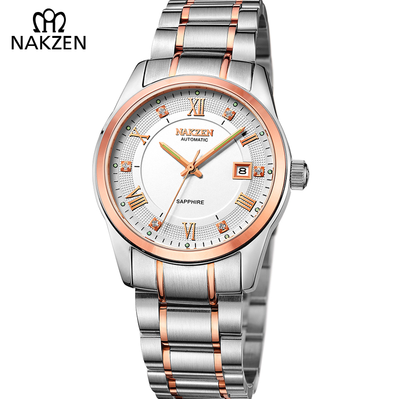 NAKZEN Men Watches Luxury Automatic Mechanical Watch Men Business Waterproof Male Watch Relogio Masculino With JAPAN MOVEMENT T4 unique smooth case pocket watch mechanical automatic watches with pendant chain necklace men women gift relogio de bolso
