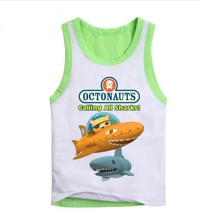 multi style Octonauts Kwazii Cotton  cartoon kids  vest clothing  baby children clothes summer