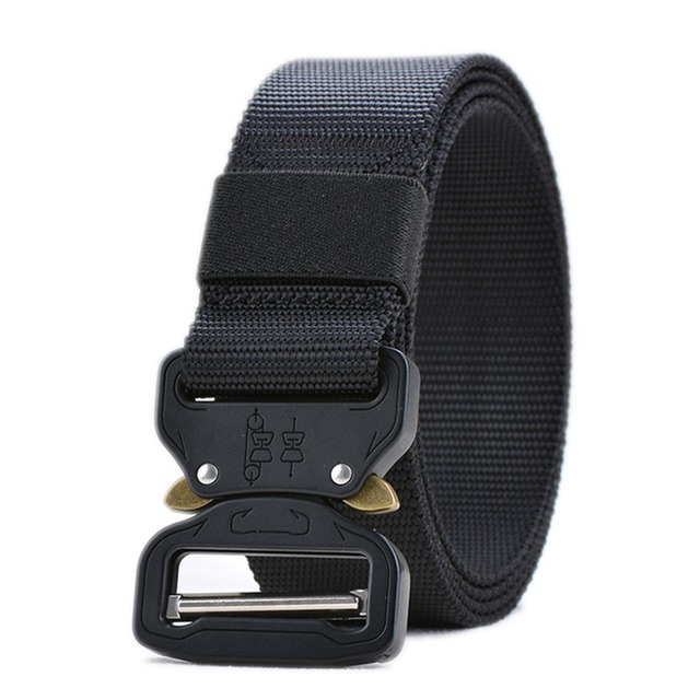 Tactical Belt Military Nylon Belt Men Army Style Belt Automatic Metal Buckle Cinturon Quality SWAT Waist Strap Hunting
