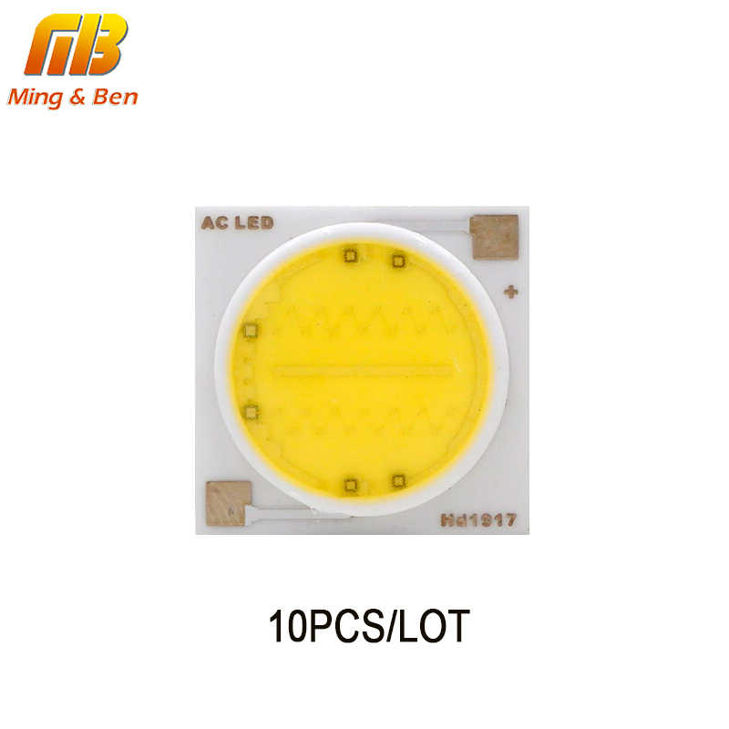 10PCS LED COB Chip Light 3W 5W 7W 9W 12W AC 220V No Need Driver High Quality LED Bead Lamps For Outdoor DIY Floodlight Spotlight