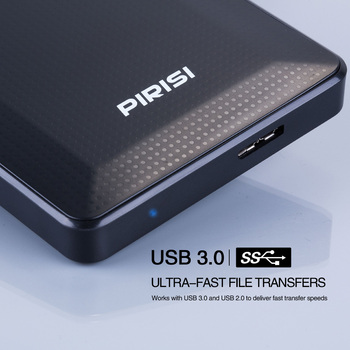 """PIRISI 2.5"""" Slim External Hard Drive Disk 250GB 320GB USB3.0 Portable HDD, Compatible with Xbox One/Xbox 360/PS4/Mac/Tablet/PC"""