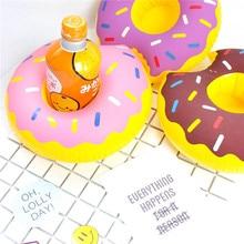 1 шт. пончики держатель для напитков вода забавная игрушка бассейн плоты надувные плавающие летние пляжные вечерние Детские держатели для телефонов