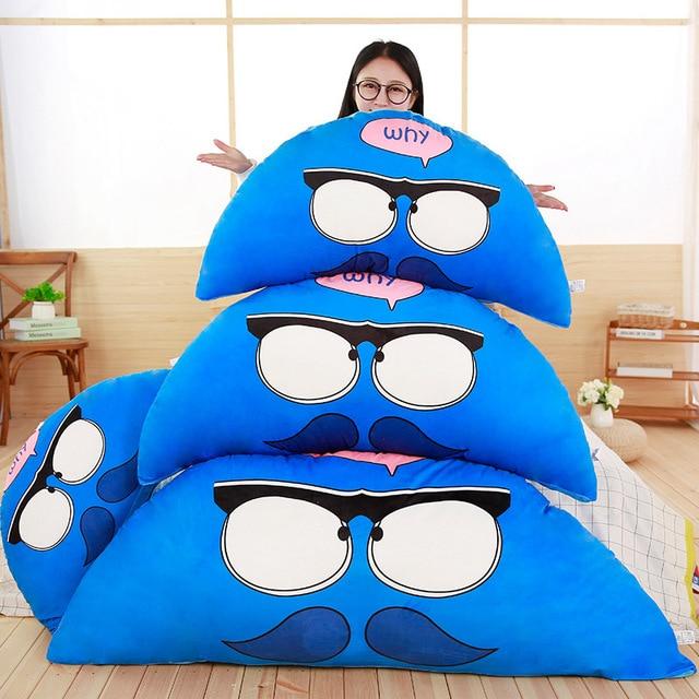 80cm 100cm Large Animals Plush Pillow Sofa Cushion Stuffed Totoro Bear Bird Pig Squirrel Bed