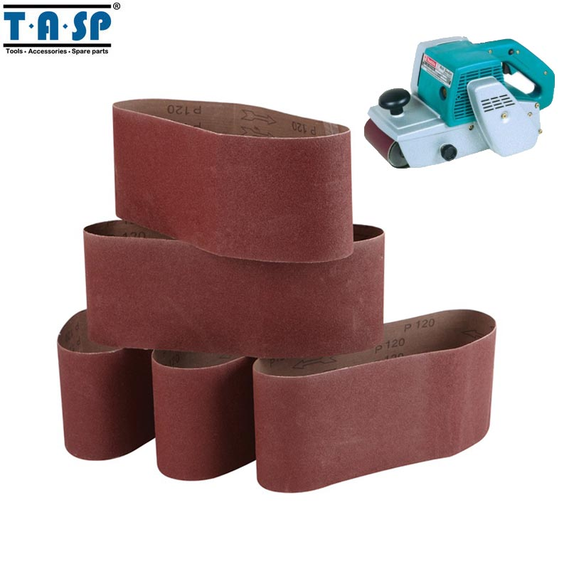 Tasp Msb100610 5pcs Abrasive Sanding Belt 100x610mm Belt Sander Sandpaper Aluminium Oxide Woodworking Power Tools Accessories Activating Blood Circulation And Strengthening Sinews And Bones Tools