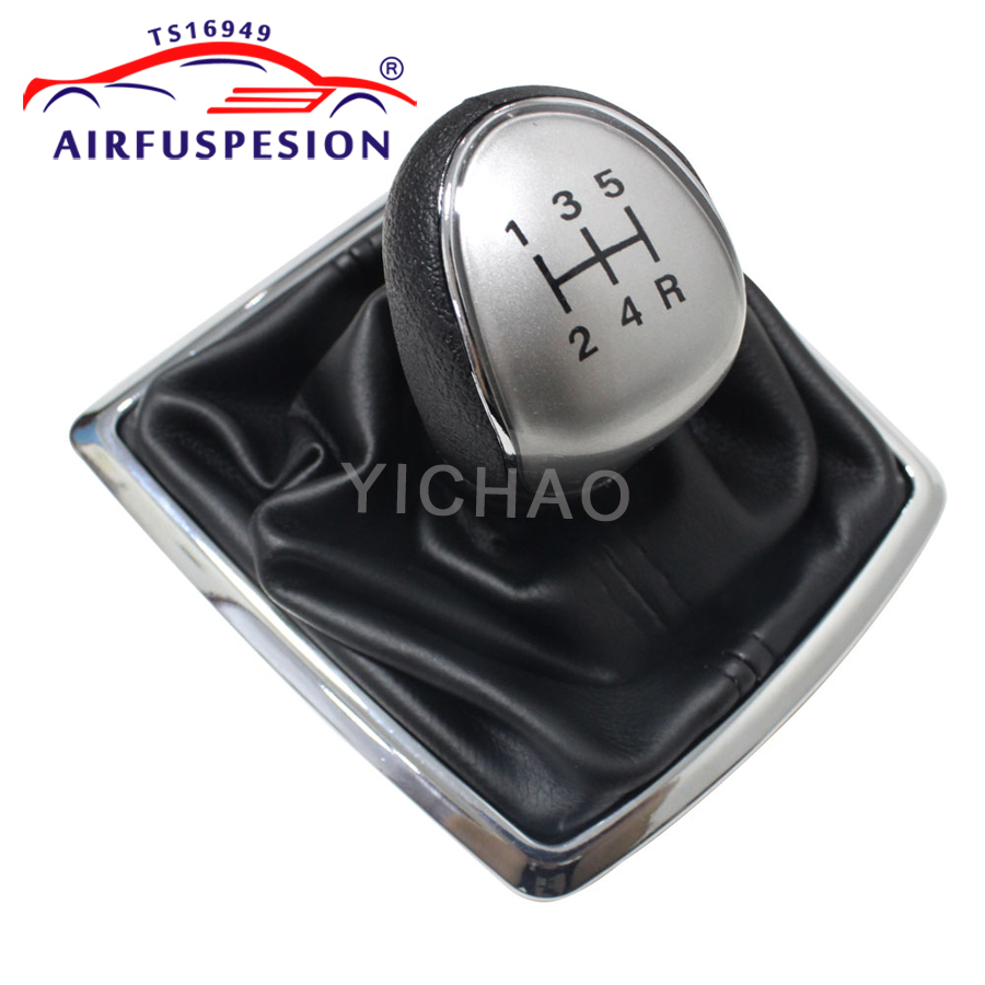 5 Speed Manual Gear Shift Knob With PU Leather Gaiter Boot for Ford Focus 2 MK2 2005-2012 Kuga 2008-2012 Fiesta 2008-2012 C-Max