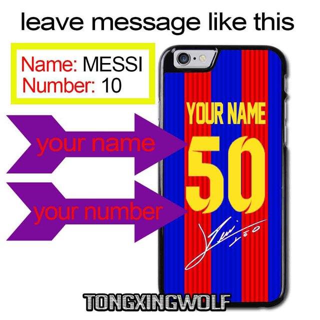 a88acc7cdfc custom MESSI Brazil Star neymar jr jersey Cover Case For iPhone 4 4s 5 5c  5s se 6 6s 7 8 plus x xiaomi redmi note oneplus 3 3T 4