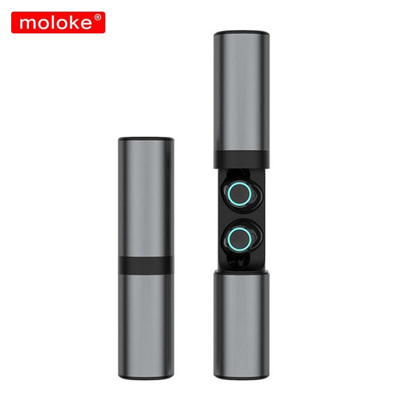 moloke Bluetooth Earphones TWS Wireless Blutooth Earphone Handsfree Sports Earbuds Gaming Headset Phone