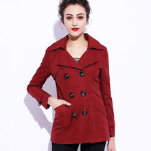 New Winter Hot Silm Casual Woman Trench Coat Double-breasted Outerwear Female