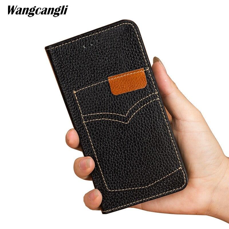 Étui de téléphone portable de marque flip cowboy carte position pour LG G7 coque de téléphone en cuir véritable tout étui de téléphone mobile personnalisé à la main