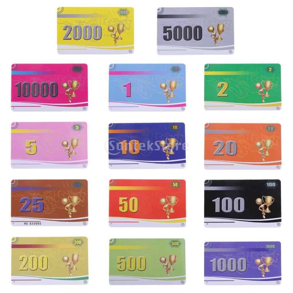 MagiDeal البلاستيكية البلاستيكية فيش الكازينو لعبة البوكر رقائق بطاقة جونغ لعبة مجلس لعبة عدادات بطاقة