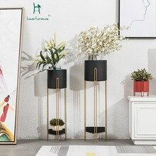 Луи моды завод полки нордический железный пол цветок балкон Многоэтажный Крытый Гостиная Современная