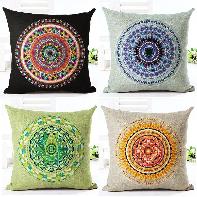 ✓Gros coussins décoratifs abstraite géométrique linge coloré
