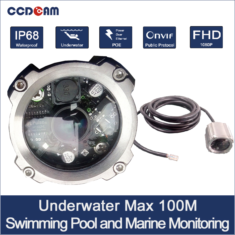 CCDCAM 1080P 100M Underwater Camera POE power for Marine monitoring and swimming monitoring patrick roose chemical marine monitoring policy framework and analytical trends