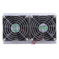 120W 2 x Fan Thermoelectric Peltier Refrigeration Peltier Cooling DIY System Kit Cooler 2 x Double Fan Computer Components