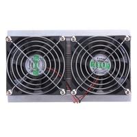 120W 2 x Fan Thermoelectric Peltier Refrigeration Peltier Cooling DIY System Kit Cooler 2 x Double Fan Computer Components