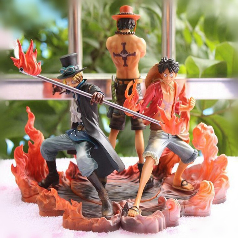 One Piece Figure Japanese Anime Ace Luffy Sabo Action Pvc Cartoon Figurine Toys Juguetes
