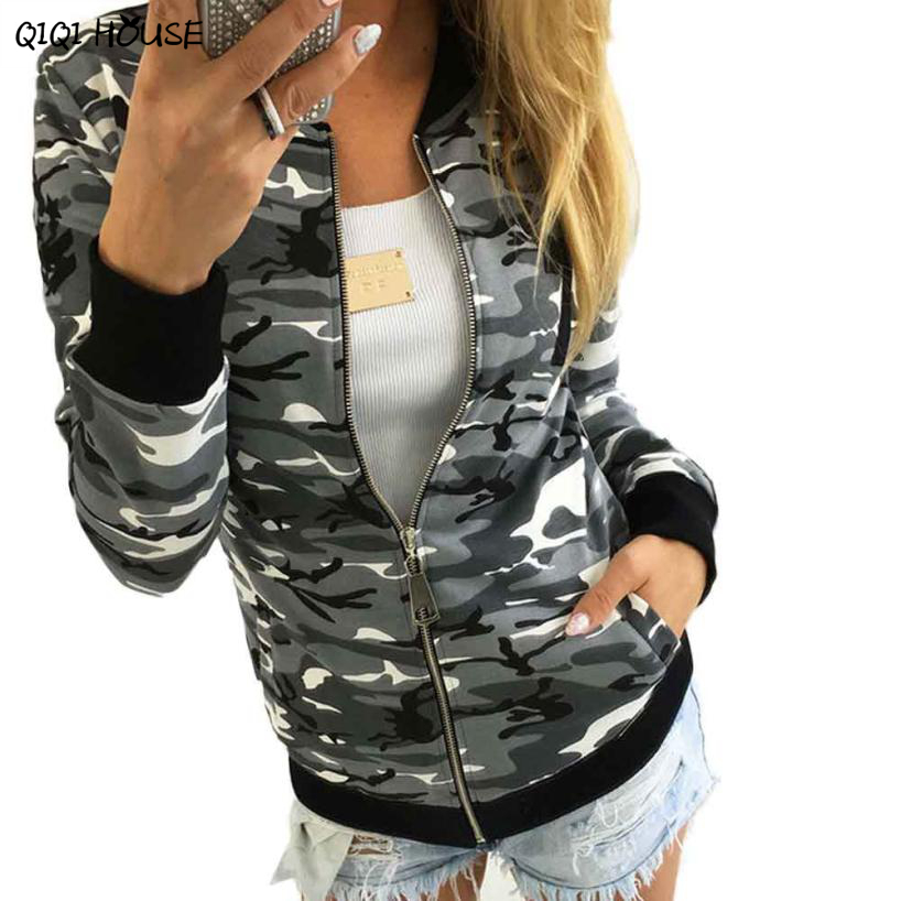 # Vestido 2017 Camouflage Jacket women Esporte Autumn Warm Winter Coat women Street Casual Girls Jackets17