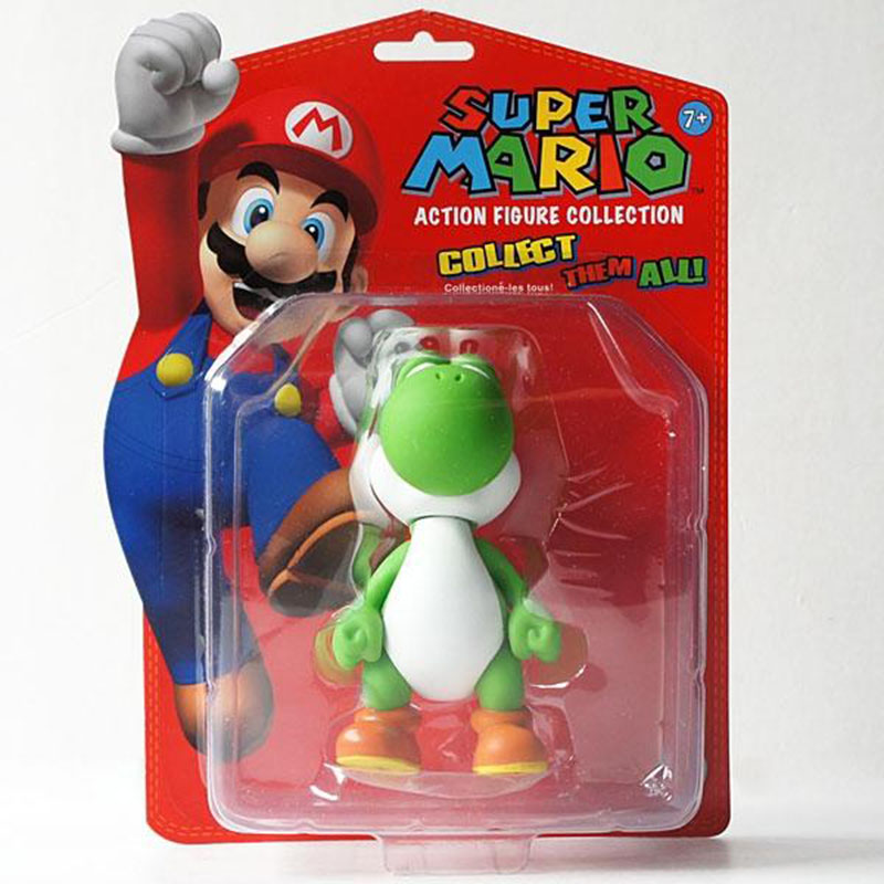 Super Mario Brothers Bros YOSHI 5 font b Toy b font Action Figure New in Box