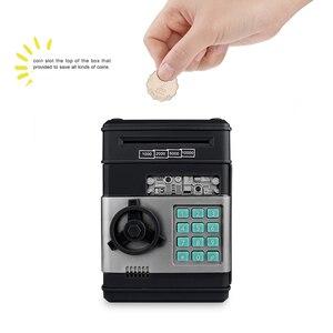 Image 4 - Elektronische Sparschwein ATM Passwort Geld Box Bargeld Münzen Spardose ATM Bank Safe Auto Scroll Papier Banknote Geschenk für Kinder