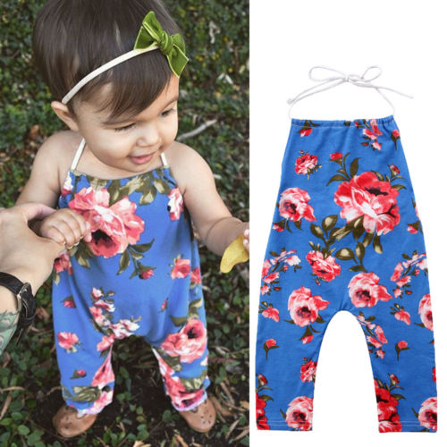 Cute Newborn Baby Kids Girls Flower Romper Jumpsuit Outfits Sunsuit Clothes Baby Floral Sleeveless Rompers Baby Clothing puseky 2017 infant romper baby boys girls jumpsuit newborn bebe clothing hooded toddler baby clothes cute panda romper costumes
