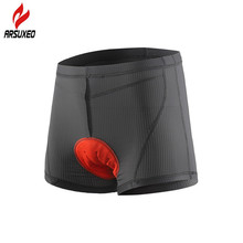 ARSUXEO Unisex Cycling Shorts Bicycle Bike Underwear Shorts with Sponge Padded MTB Downhill Compression Shorts for Men and Women arsuxeo men s outdoor sports cycling shorts downhill mtb shorts protective padded shorts for skiing snowboarding