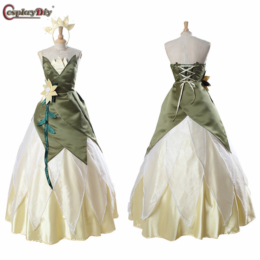 Cosplaydiy Custom Made The Princess and the Frog Princess Tiana Dress For Dance Party Green Adult