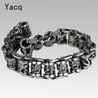 Men Dragon Stainless Steel Bracelet 316L Biker Heavy Punk Rock Jewelry Gifts Silver Tone 8 5