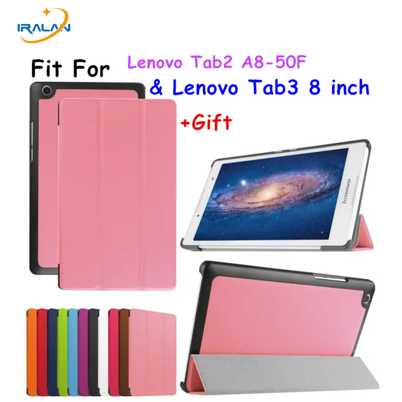2017 New Tab3 8 inch Tablet TB3-850M Case Flip Cover For Lenovo Tab 3 8'' Tablet case Tab2 A8 A8-50F protective skin 3 in 1 gift