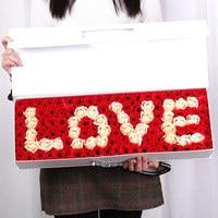 520 הענקת מתנות חג האהבה מתנת יום הולדת לחברה אמא אדום עלה נצחי קופסא מתנת פרח סבון