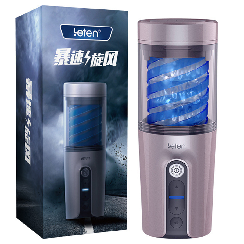 Leten New automatic rotating male masturbator cup voice sucking machine male masturbators piston sex toys for men pocket pussy 10 speed male auto telescopic rotating aircraft cup voice vibrating masturbation cup sucking masturbator sex products for men a3