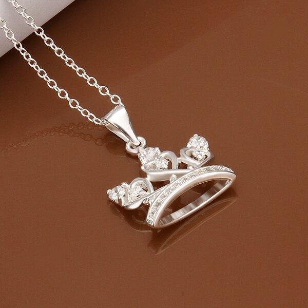 3aa8e11b2fa1 Estilo del verano collar de collar novio 925 la joyería de plata nacklace  barato cadenas de