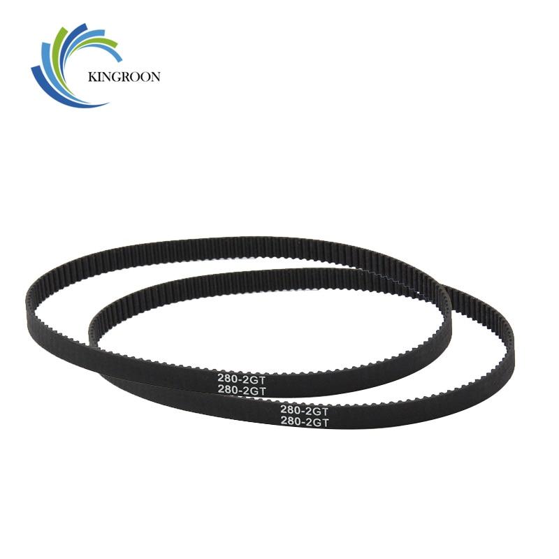 GT2 Closed Loop Timing Belt Rubber 2GT 6mm 3D Printers Parts 110 112 122 158 200 280 300 400 610 852 Mm Synchronous Belts Part