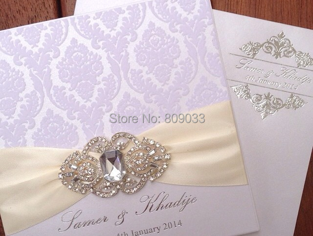 brooch lace with invitations invitation sophie vintage a wedding